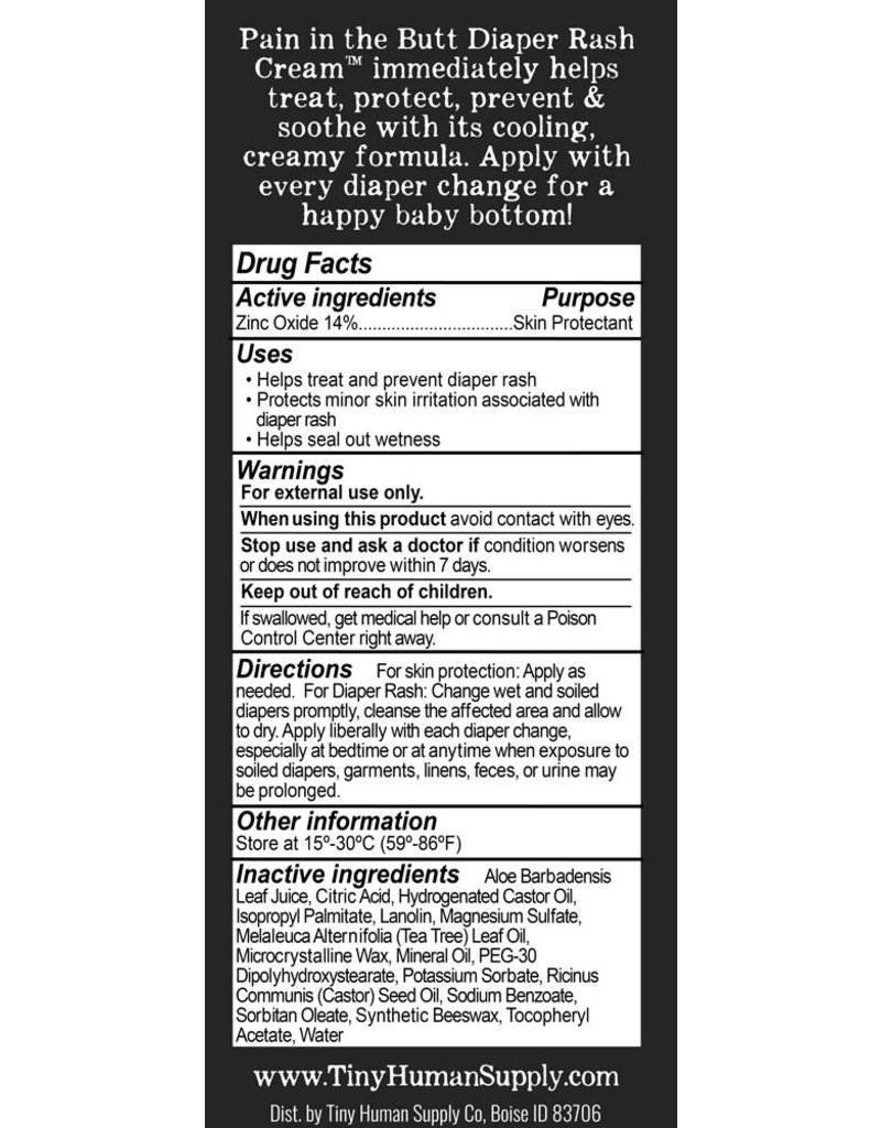 Tiny Human Supply co Pain in the Butt Diaper Rash Cream 3oz