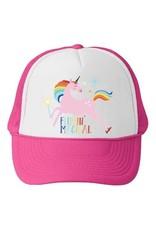 Bubu Youth Pink Trucker hat - Flippin Magical Unicorn