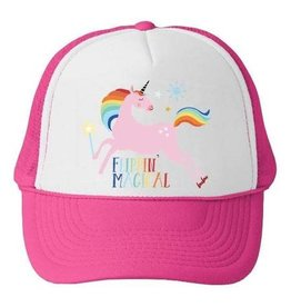 Bubu Youth Pink Trucker hat - Flippin Magical Unicorn
