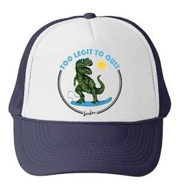 Bubu Youth Navy Trucker hat - Too Legit to Quit Dino