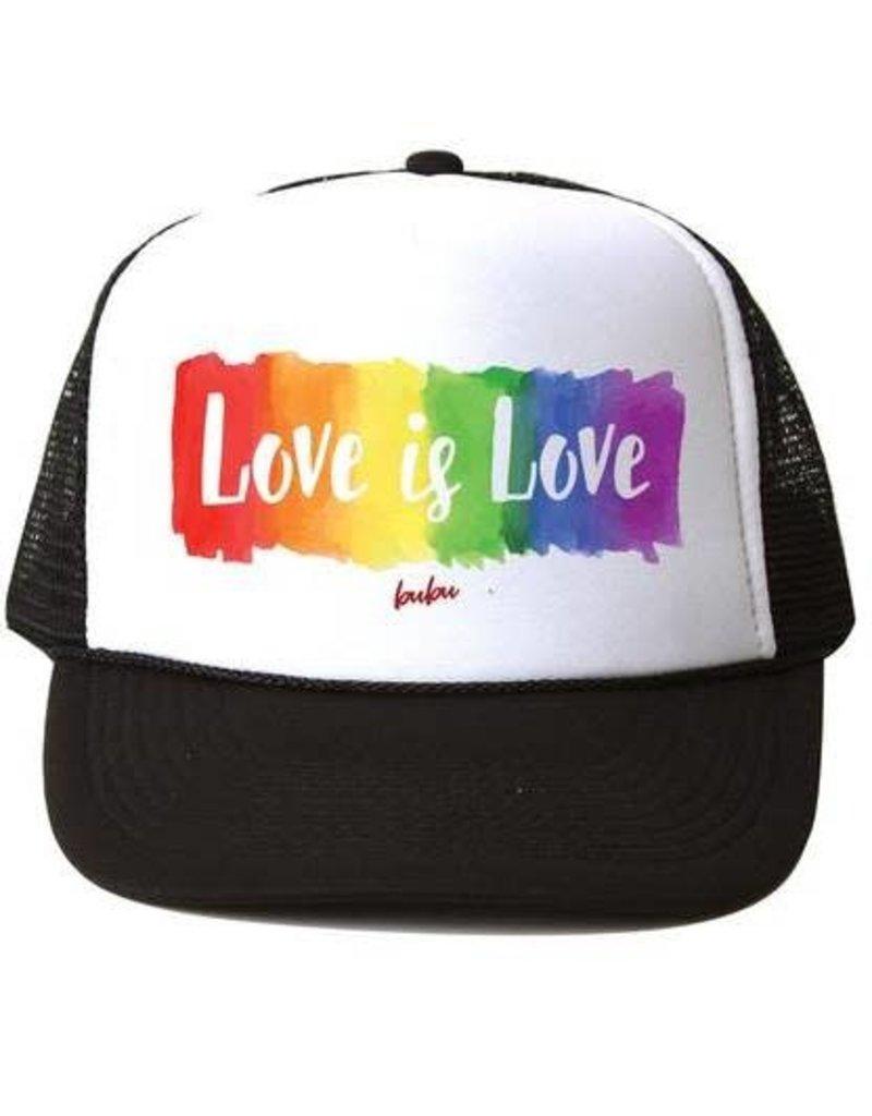 Bubu Youth Black Trucker hat - Love is Love