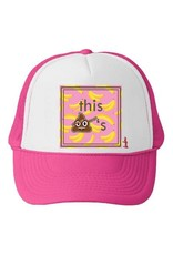 Bubu Youth Hot Pink Trucker hat - This $hit is Bananas