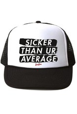 Bubu Youth Whtie/Black Trucker hat - Sicker than your average