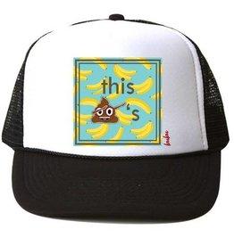 Bubu Youth Black Trucker hat - This $hit is Bananas