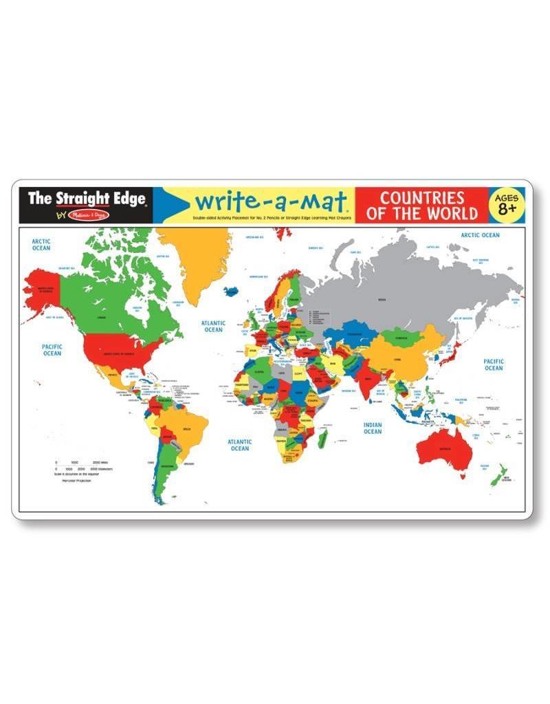 Melissa & Doug Write-A-Mat Countries of the World