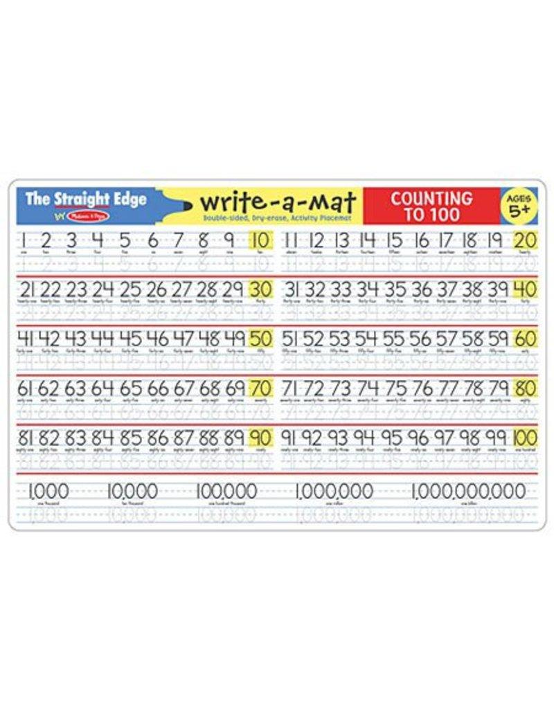 Melissa & Doug Melissa & Doug Write-A-Mat Counting to 100