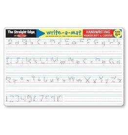 Melissa & Doug Write-A-Mat Handwriting Manuscript & Cursive