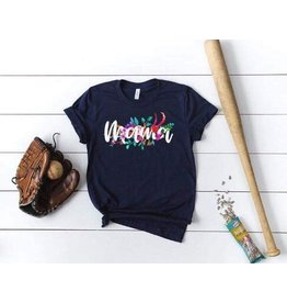 MidWest Tees Mama Floral- navy
