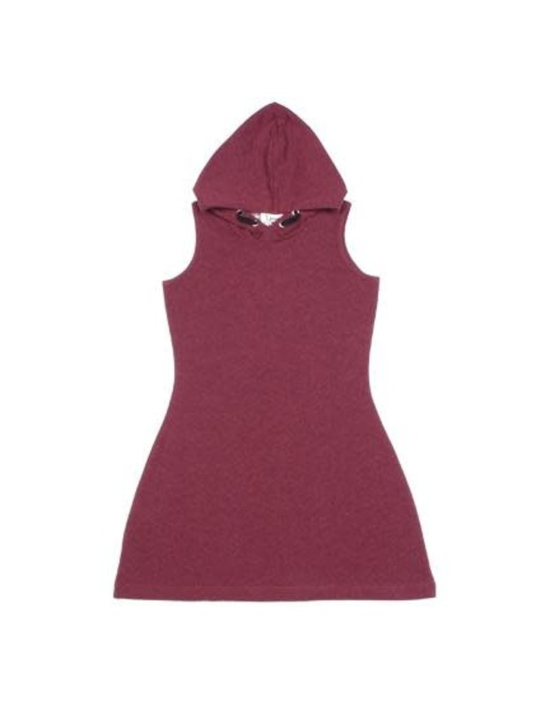 Young & Free Burgandy Hooded Play Dress