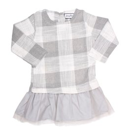 Young & Free Tunic Dress Grey Plaid