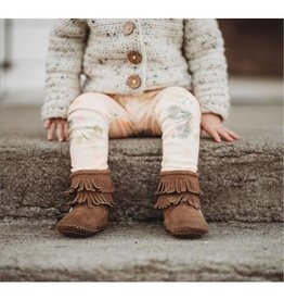 Little Love Bug Brown Moccasin Boot with Waterproof Soft Sole