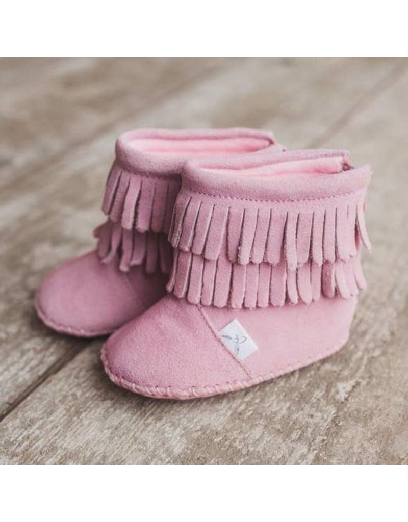 Little Love Bug Pink Cozy Moccasin Boot