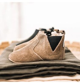Little Love Bug Brown Suede Chelsea Boot