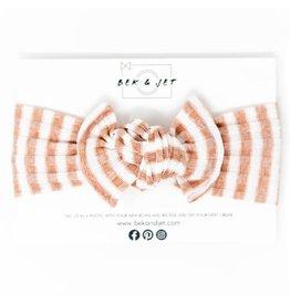 Bek & Jet Striped Blush Sweater Knit headwrap