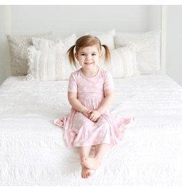 Posh Peanut Posh Peanut Pink Polka Twirl Dress