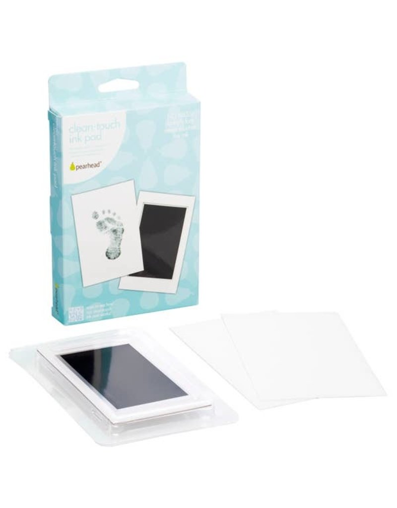 Pearhead Black Handprint or Footprint Clean-Touch Ink Pad