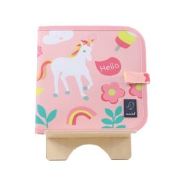 Jaq Jaq Bird Doodle It & Go Erasable Mat- Unicorn