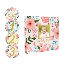 Pearhead Baby's Memory Book & sticker Set: Floral
