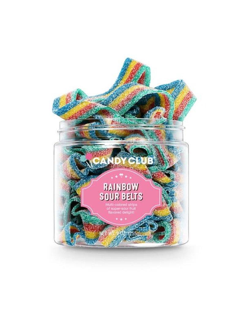 Candy Club Candy Club- Rainbow Sour Belts 9oz.