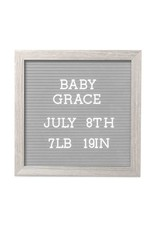 Pearhead Letterboard Set (Light Gray)