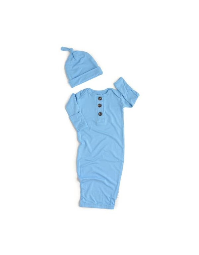 Gigi & Max Gigi & Max Baby Blue Nightgown and hat set