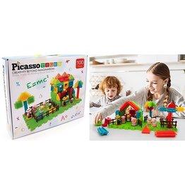PicassoTiles 100 pc Farm Theme Building Set