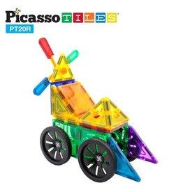 PicassoTiles 20 Pc Windmill & Wheel Set