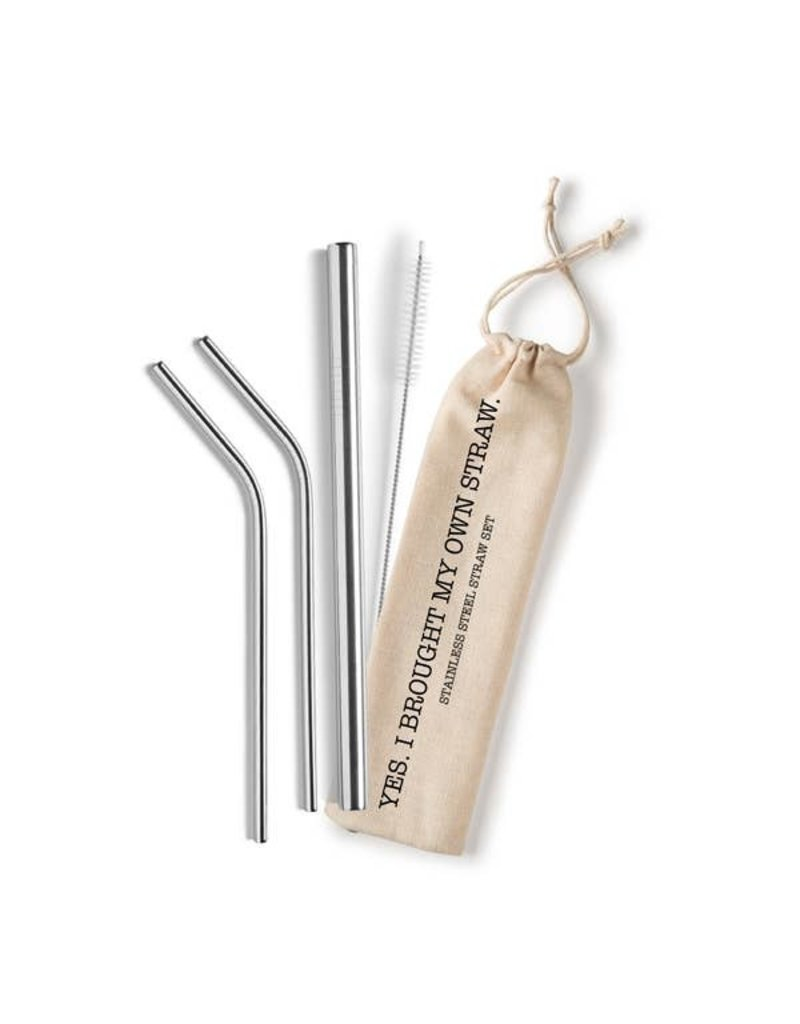 Shell Creek Sellers Stainless Steel Staw Set- Dude Where's my straw