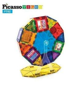 PicassoTiles 62 Pc Ferris Wheel Set