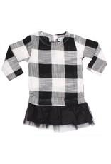 Young & Free Tunic Dress-  Black Plaid