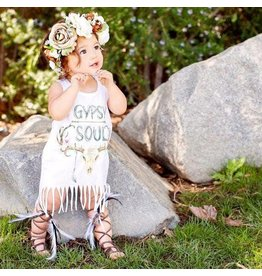 The Pine Torch Gypsy Soul Boho Floral Kids Fringe