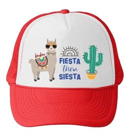 Bubu Youth Red Trucker hat - Fiesta then Siesta