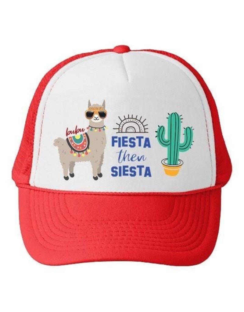 Bubu Youth Red Trucker hat - Fiesta then Siesta