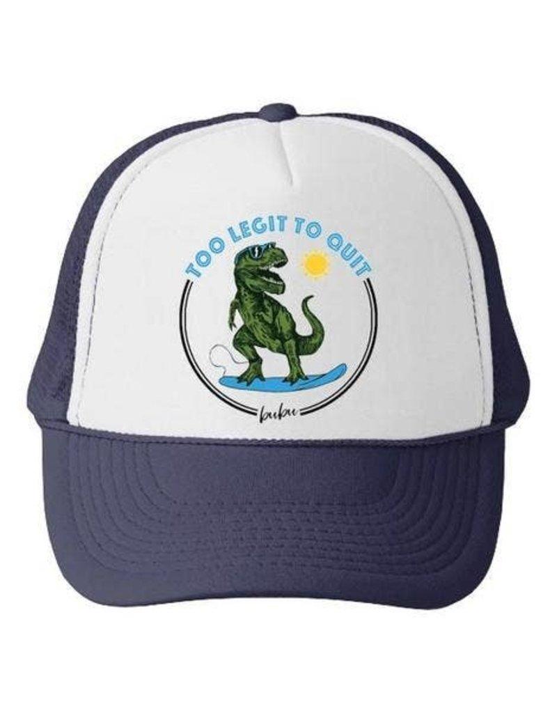 Bubu Youth Navy Trucker hat - Too Legit to Quit Dino