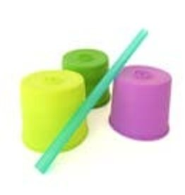 go sili Universal Straw Tops - 3pk green Lime purple