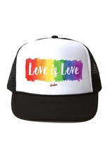 Bubu Youth Black Trucker hat - Love is Love