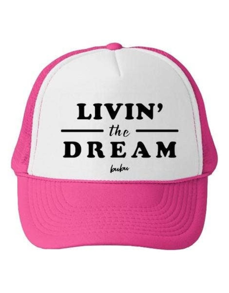 Bubu Youth Pink Trucker hat - Livin' The Dream