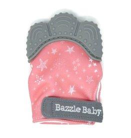 Bazzle Baby Chew Mitt- Stars on Pink