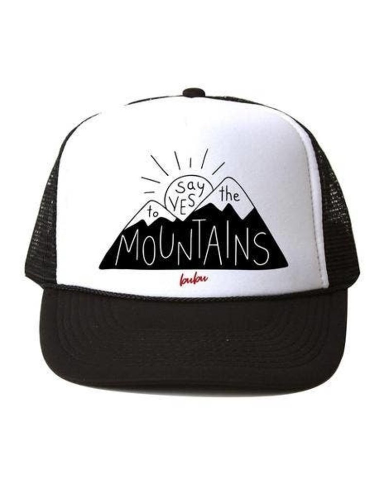 Bubu Youth Black Trucker hat - Say Yes to the Mountains