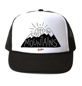 Bubu Adult Black Trucker hat - Say yes to the mountains