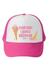 Bubu Youth Pink Trucker hat - Sometimes I have a meltdown