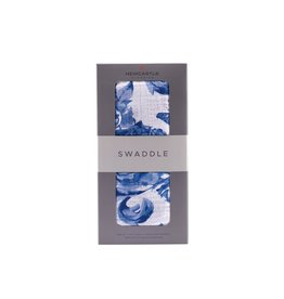 Newcastle Blue Butterfly Swaddle
