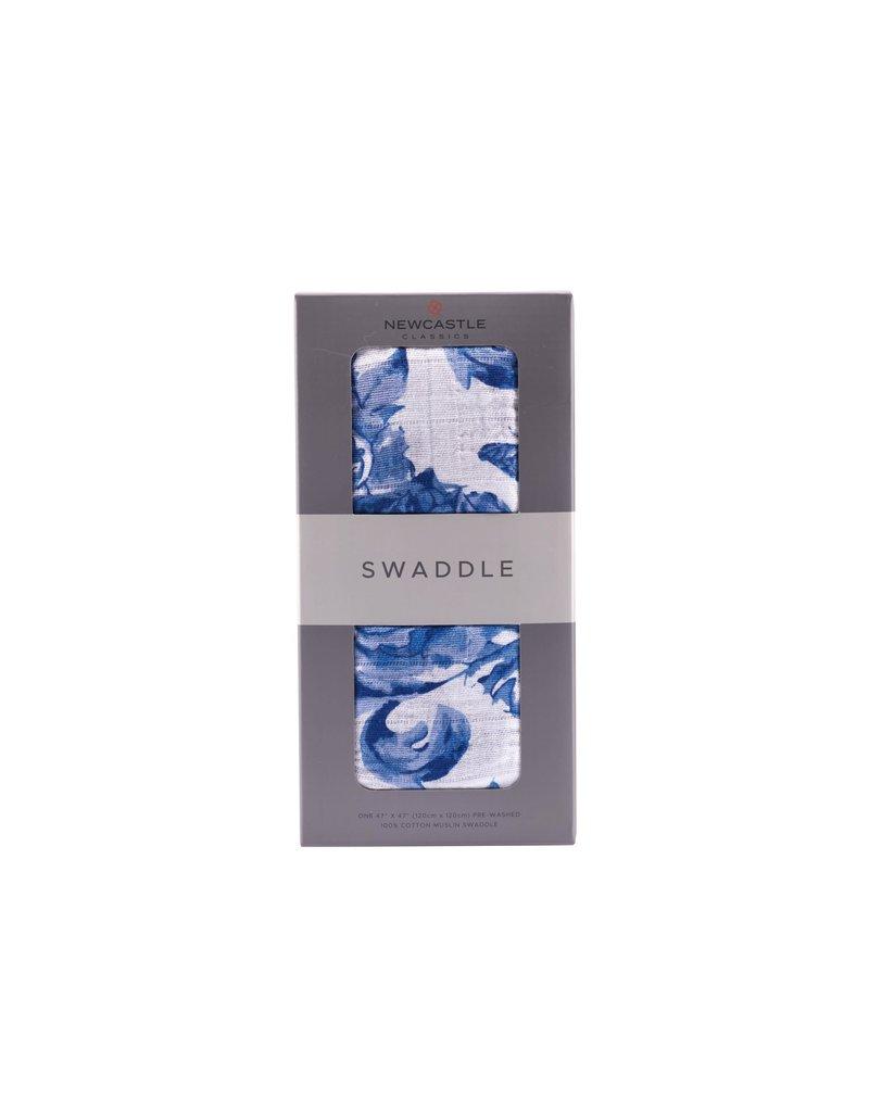 Newcastle Blue Butterfly Swaddle