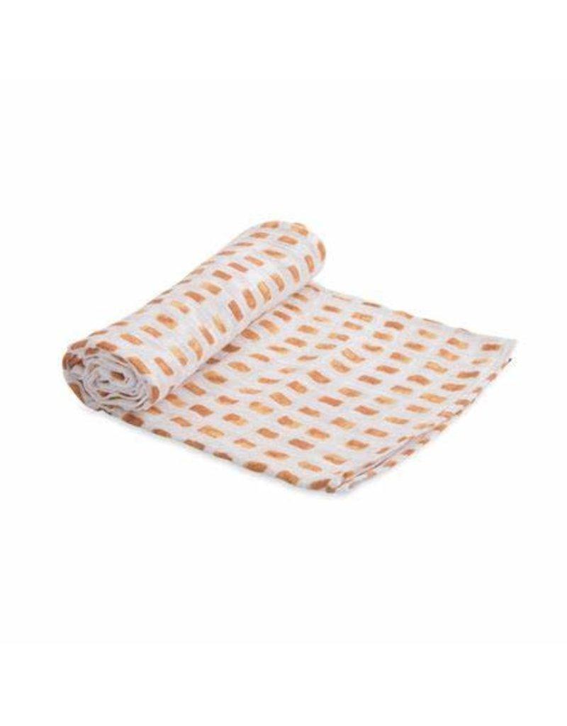 Little Unicorn Cotton Muslin swaddle- Tangerine Tiles