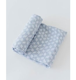 Little Unicorn Cotton Muslin swaddle- Blue Grass