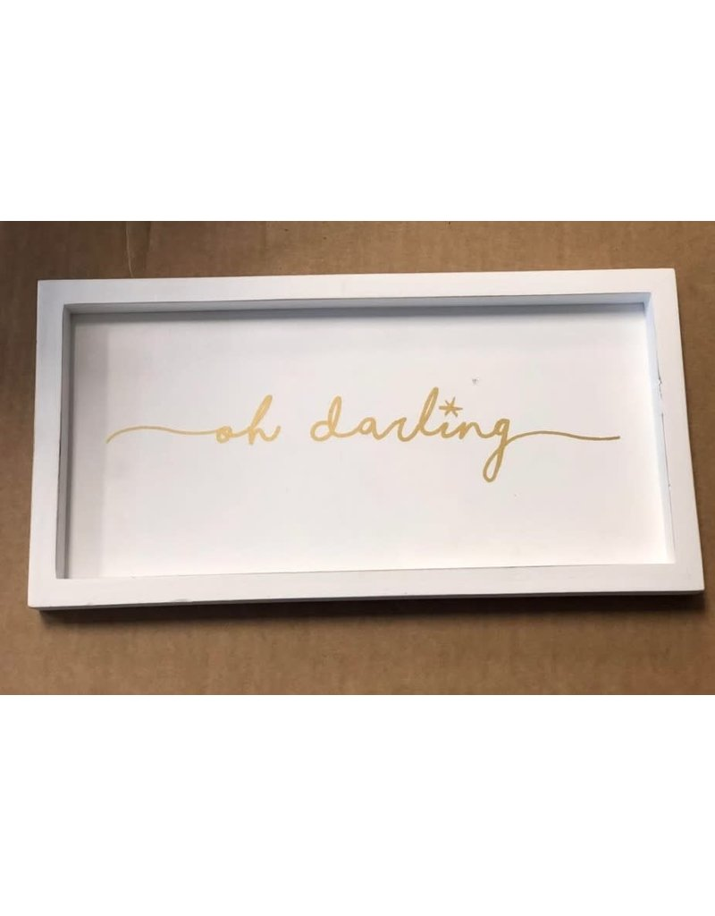 Mud Pie OH DARLING GOLD PLAQUE