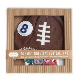 Mud Pie Mud Pie Milestone Football Knit Hat