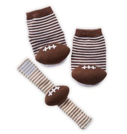 FOOTBALL WRIST RATTLE SOCK SET