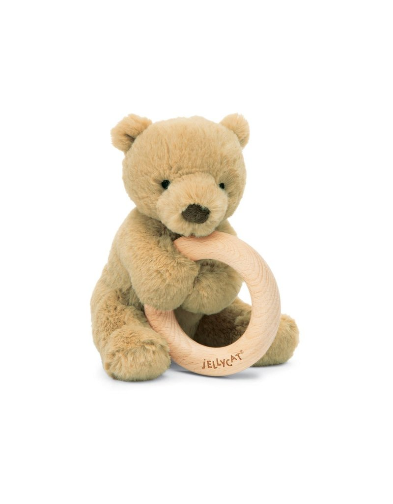 jellycat Shooshu Bear Wooden Ring Toy