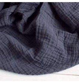 The Sugar House Sugar + Maple Muslin Swaddle - Charcoal